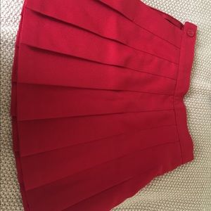 American apparel red skirt USC TAILGATE