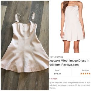 Sold Out! KEEPSAKE MIRROR IMAGE BLUSH SKATER DRESS