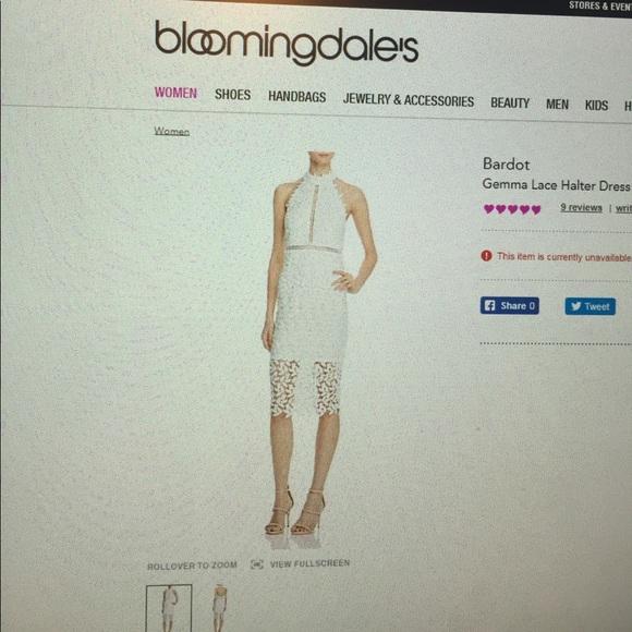 20805224bce Bardot Dresses   Skirts - Bardot Gemma Lace Haler Dress US 6 Small White