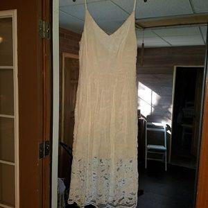 H&M cream color lace dress