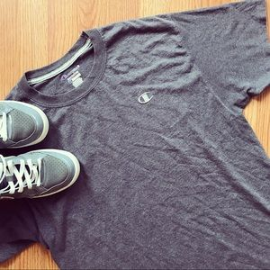 {vintage} • authentic charcoal gray CHAMPION tee