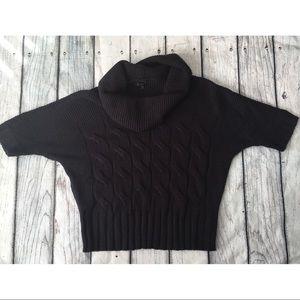 Express black cowl neck knit sweater size m