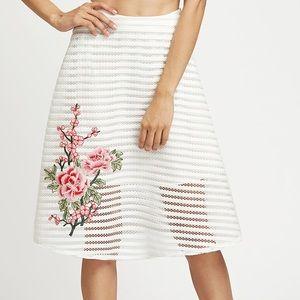 Dresses & Skirts - HP🏆Flower embroidered mesh overlay skirt
