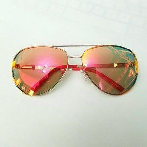 Kensie Mirrored Lenses Aviator Sunglasses