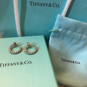 Tiffany & Co mini twist hoops