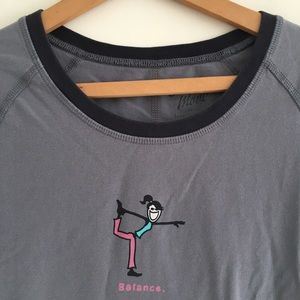 1e7ef1d526f Life Is Good Tops - Life is good balance yoga tee