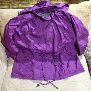 Woman Within New Purple Coat