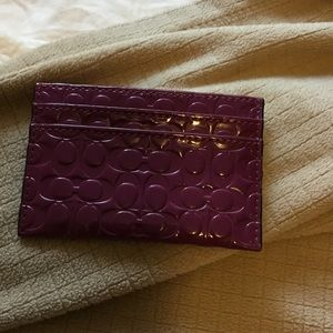 Brand new Coach credit card wallet in purple
