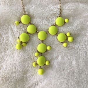 J. Crew lime green bubble necklace