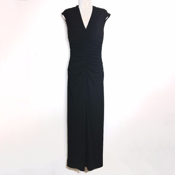 350ba22b08f040 Halston Heritage Dresses & Skirts - H Halston Ruched Draped Black Jersey  Evening Dress