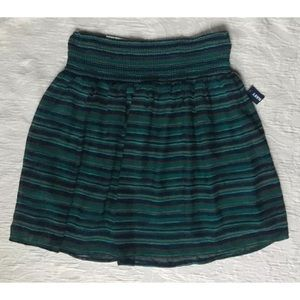 NWT Old Navy Wide Smocked Waist Stripe Skirt Teal
