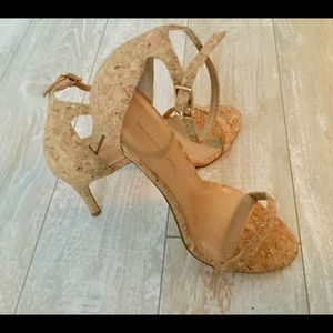 BANANA REPUBLIC Cork Bare High Heel Sandal NEW