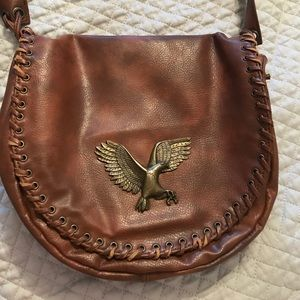 Cross body bag with eagle detail