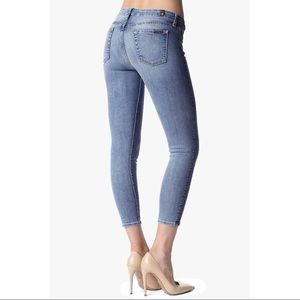 7 for all mankind the cropped skinny