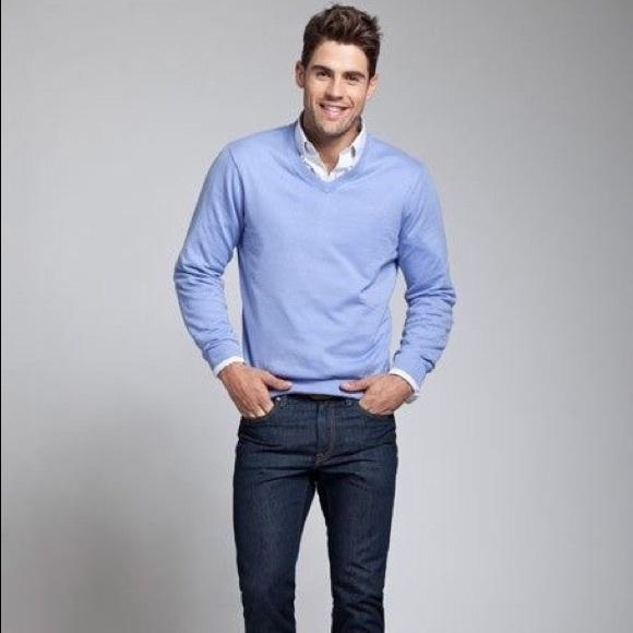 H&M - 😻H&M Men Light Blue V-Neck Sweater from Q's closet on Poshmark