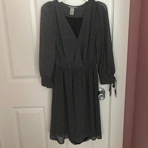 H&M Gray Long Sleeve Dress NWOT