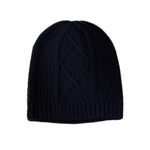 The Jetset Diaries (TJD) Cable Knit Blk Beanie