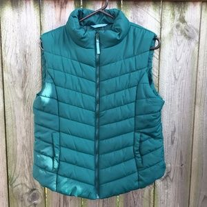 Aeropostale Quilted Puffer Vest Green Size XL