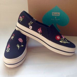 Kate Spade Ked Embroidered Sneakers