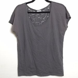 VS PINK lace back tee