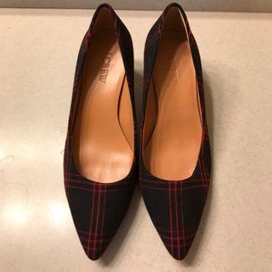J. Crew Plaid Pumps.