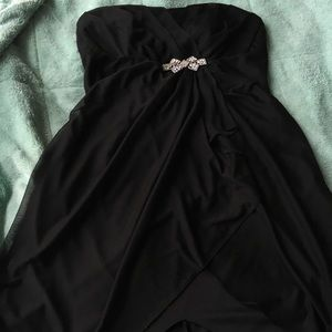 David's Bridal Short Black Bridesmaid Dress