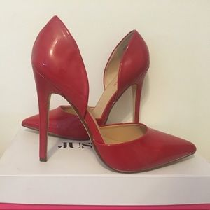 """Brand new Red """"Annaleese"""" heels from JustFab."""