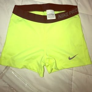 Nike Compression Shorts Neon Volt