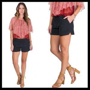 anine bing // black 100% silk nordstrom shorts NWT