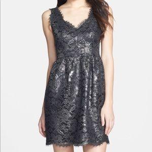 Shoshanna Foiled Metallic Sierra Dress