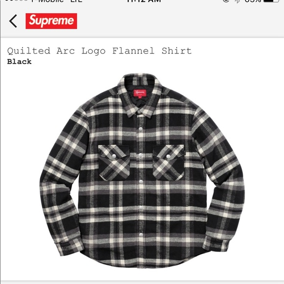 74411604f7c ... Supreme quilted arc flannel ...