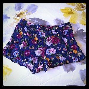 Forever21 floral shorts