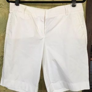 J Crew White Lightweight Bermuda Shorts cotton 8