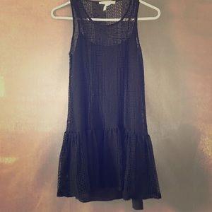 BCBGeneration Black Mini Crochet Dress XXS