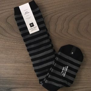 Accessories - Wool Striped Knee High Socks