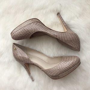 CALVIN KLEIN Karence Snakeskin Cocoon Heels Sz 8.5