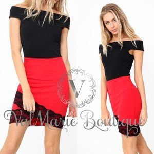 Bodycon Lace Accent Dress