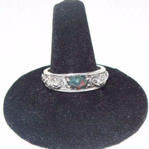 Wellstone Jewelry Accessories - LION head Ring Sterling Silver w/ Bloodstone gen
