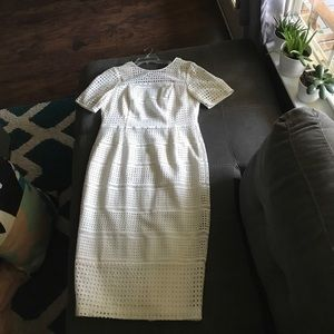 Asos white wiggle dress