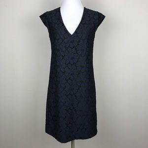 [J Crew] Sleeveless Lace Shift Dress Navy Black 0