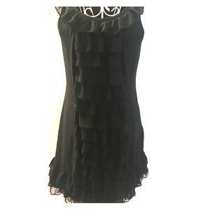 Ruffled black dress