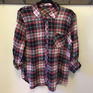 NWOT Kut from the Kloth Plaid button down