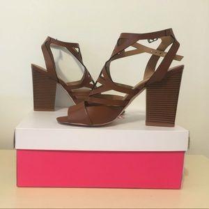 "Brand new Cognac ""Darnetta"" heels from JustFab."