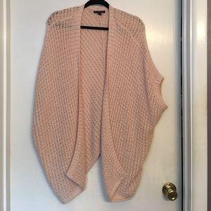 Blush colored oversized knit sweater