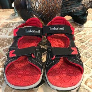 Timberland sandals big boy size 3!