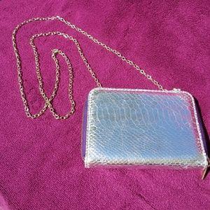 Metallic Silver Tarte Travel Case. NWOT