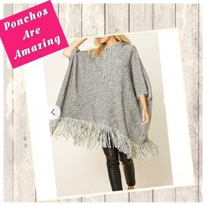 New oversized Hooded Poncho
