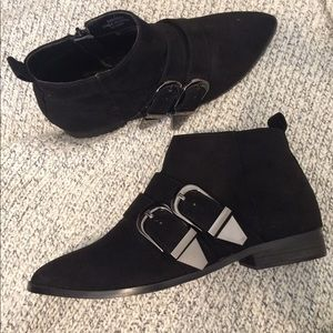 New faux suede ankle booties