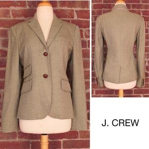 Wool Herringbone Hacking Blazer Preppy Jacket 105