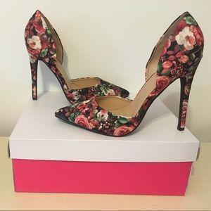 "Brand new floral ""Annaleese"" heels from JustFab."